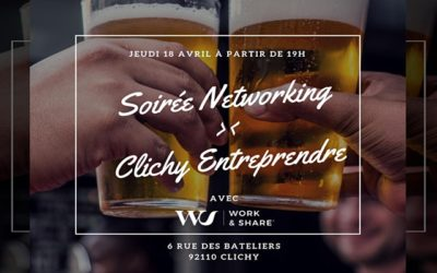 Clichy Entreprendre le 18 avril 2019, Nouvelle soirée networking